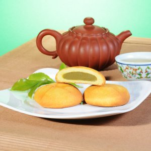 曾記麻糬綠茶麻糬餅,花蓮特產,甜點,下午茶,小點心,花蓮麻糬,green-tea-mochi-cake,tzen,hualien